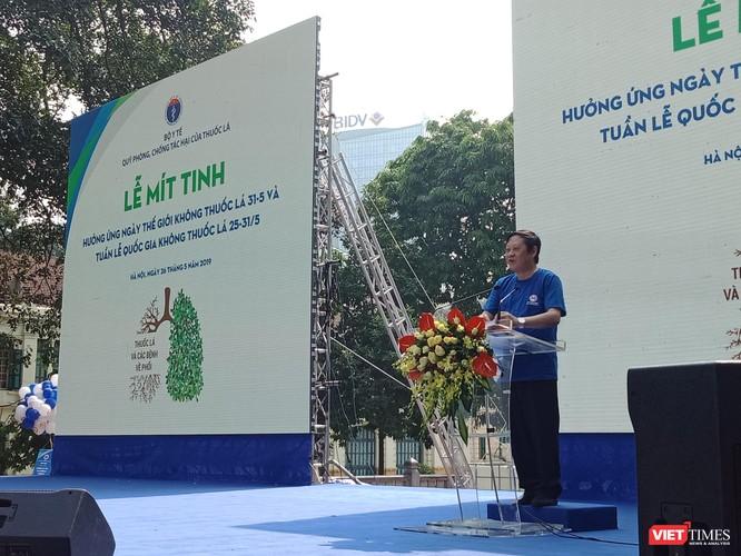Thứ trưởng Bộ Y tế Nguyễn Viết Tiến phát biểu tại sự kiện.