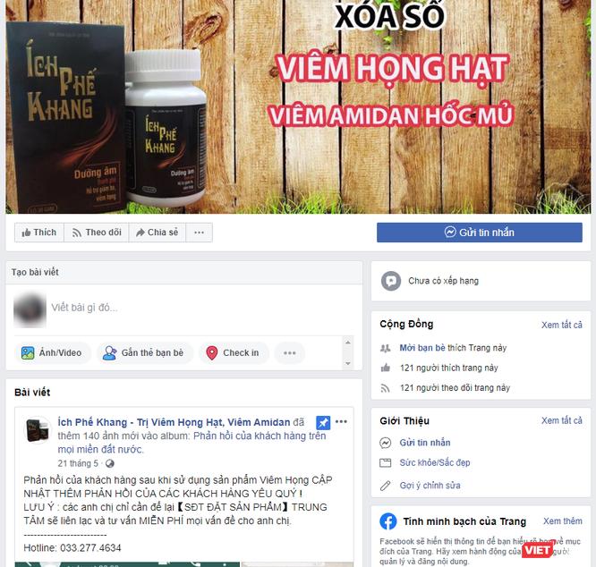 Lần thứ 2 cảnh báo về quảng cáo thực phẩm chức năng Ích Phế Khang lừa dối thông tin ảnh 1