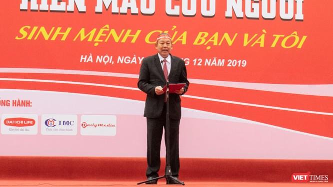 Phó Thủ tướng Thường trực Chính phủ Trương Hòa Bình dự khai mạc ngày hội Chủ nhật Đỏ nhằm khắc phục tình trạng thiếu máu điều trị ảnh 1