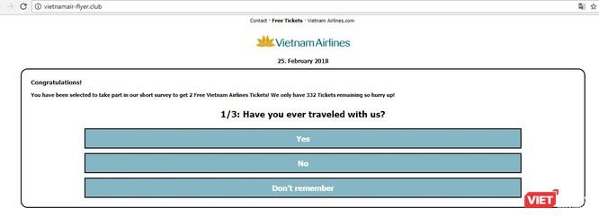 Nguy cơ lộ thông tin cá nhân từ chương trình giả mạo tặng vé máy bay miễn phí ảnh 2