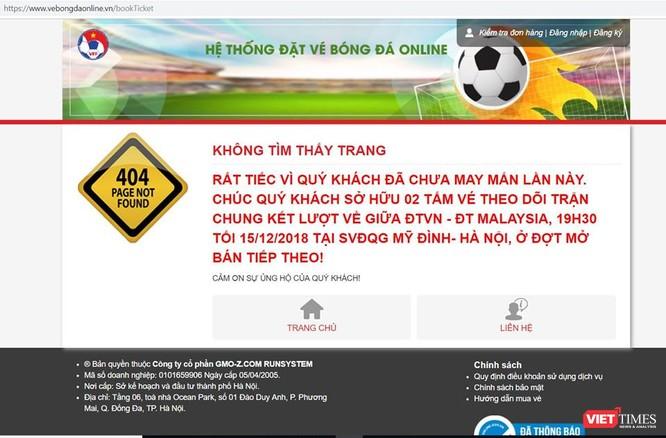 """Website bán vé trận Việt Nam vs Malaysia liên tục """"ngất"""", VFF lên tiếng cảnh báo vé giả ảnh 3"""