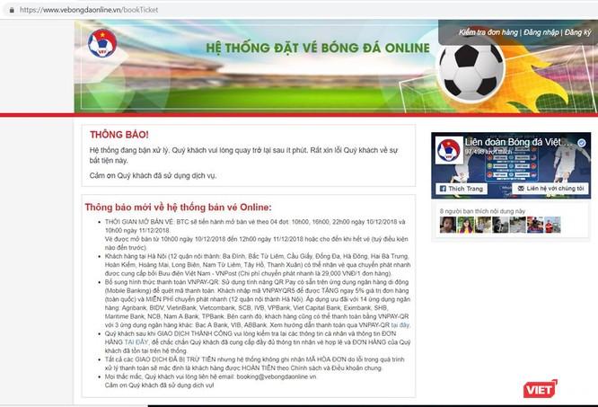 """Website bán vé trận Việt Nam vs Malaysia liên tục """"ngất"""", VFF lên tiếng cảnh báo vé giả ảnh 4"""