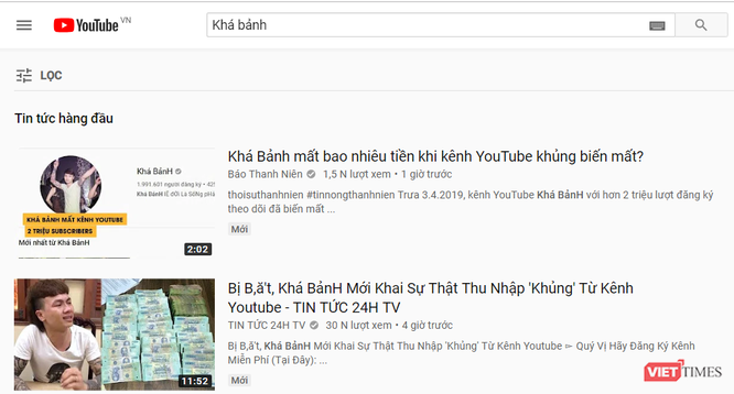 """Kênh YouTube 2 triệu lượt theo dõi của Khá """"Bảnh"""" đã bị xóa ảnh 1"""