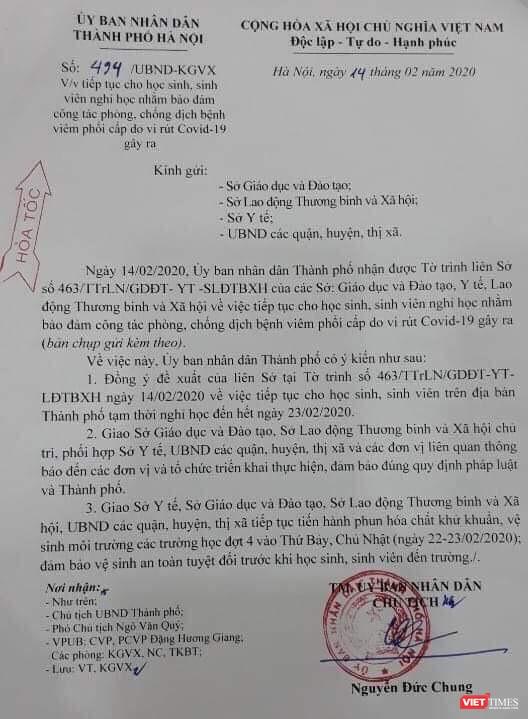 2 triệu học sinh Hà Nội tiếp tục nghỉ học tuần thứ ba liên tiếp vì COVID-19 ảnh 1