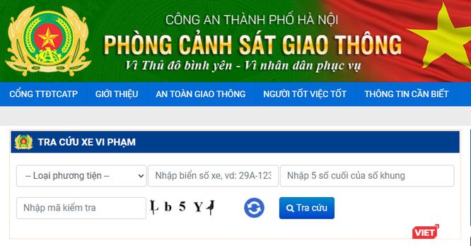 Mách bạn cách tra cứu online xe vi phạm giao thông tại Hà Nội ảnh 1