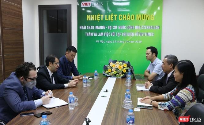 Đại sứ Azerbaijan thăm và làm việc với VietTimes ảnh 3