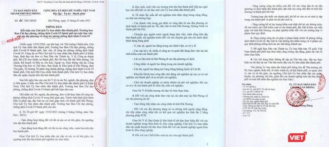 Hải Phòng: Các thành viên trong gia đình có người về từ Hà Nội cần test COVID-19 ảnh 1