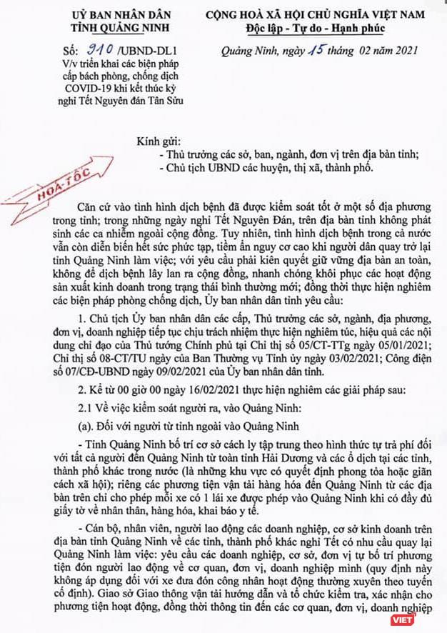 Quảng Ninh: Dựng 12 chốt phòng dịch, yêu cầu người dân khai báo y tế điện tử và dùng Bluezone ảnh 1