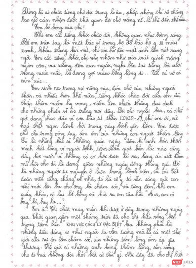 Xúc động bức thư gửi bé gái sinh ra tại Bệnh viện Bệnh Nhiệt đới Trung ương ảnh 2
