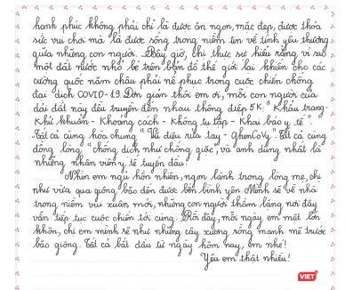 Xúc động bức thư gửi bé gái sinh ra tại Bệnh viện Bệnh Nhiệt đới Trung ương ảnh 3