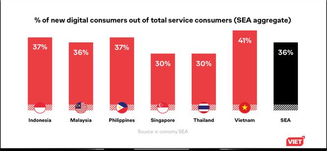 Việt Nam dẫn đầu Đông Nam Á về lượng người dùng dịch vụ kỹ thuật số ảnh 1