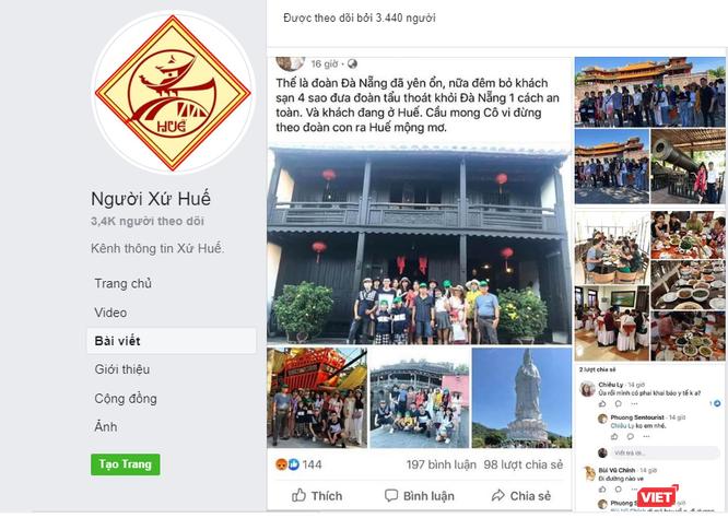 """Màn """"khoe chiến tích"""" đào tẩu khỏi Đà Nẵng đến Huế khiến dân mạng dậy sóng ảnh 1"""