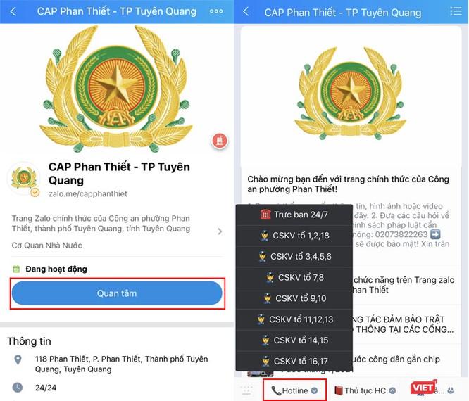 Người dân Tuyên Quang tương tác với công an qua 146 tài khoản Zalo ảnh 1
