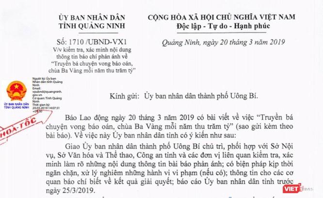 Quảng Ninh: Yêu cầu xác minh chùa Ba Vàng bị tố thu trăm tỷ từ truyền vong báo oán ảnh 2