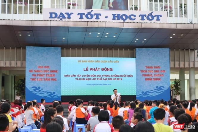 Hà Nội: Tổ chức phổ cập môn bơi cho trẻ phòng chống đuối nước 2019 ảnh 1