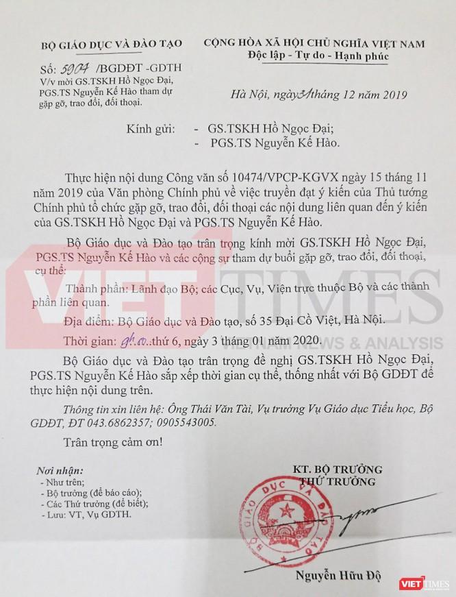 GS. Hồ Ngọc Đại: Tôi không hy vọng thuyết phục Bộ GD&ĐT công nhận bộ SGK công nghệ giáo dục! ảnh 1