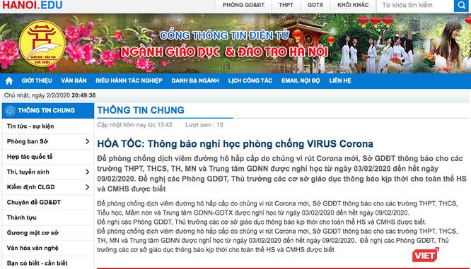 Lo ngại chủng virus Corona mới lây lan, học sinh Hà Nội nghỉ học 1 tuần ảnh 1