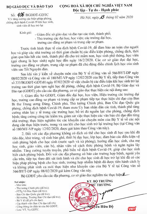 Nghiêm cấm học sinh khạc, nhổ bừa bãi để phòng dịch Covid-19 ảnh 1