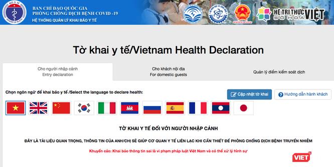 Người nhập cảnh vào Việt Nam từ 1/3 đến nay đều phải khai báo y tế để phòng COVID-19 ảnh 1