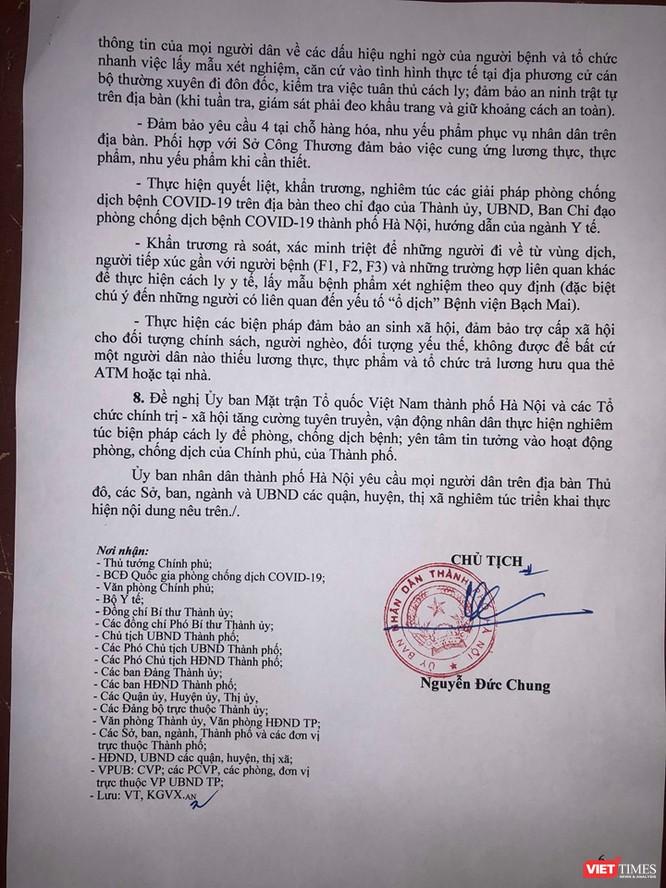 Chủ tịch Hà Nội yêu cầu người dân Thủ đô tự giác cách ly để phòng COVID-19 ảnh 3