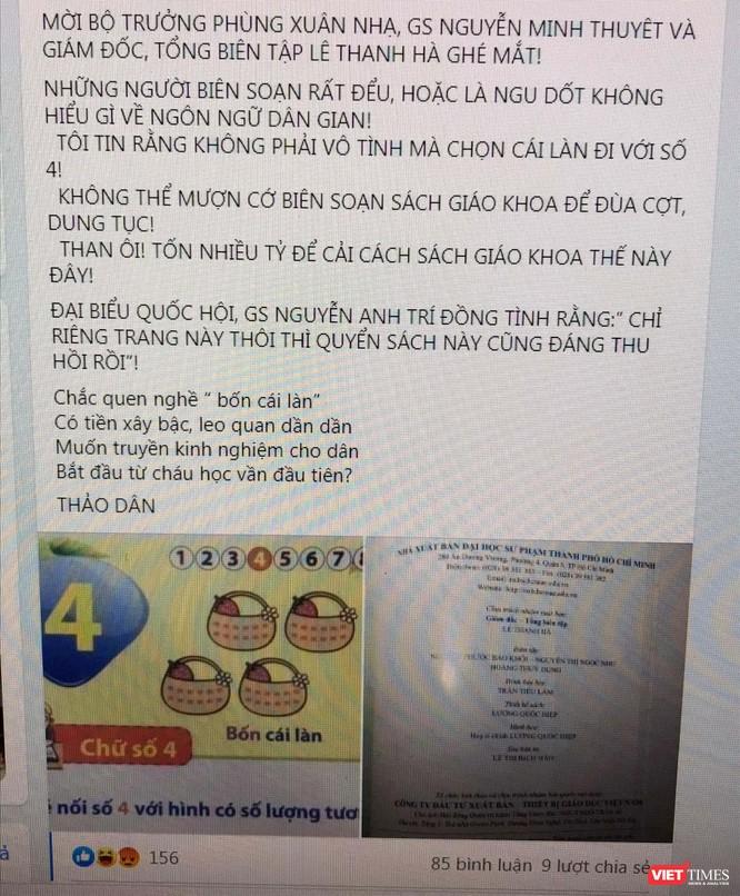 Ồn ào xung quanh bộ SGK Tiếng Việt 1 Cánh Diều, GS. Nguyễn Minh Thuyết nói gì? ảnh 3