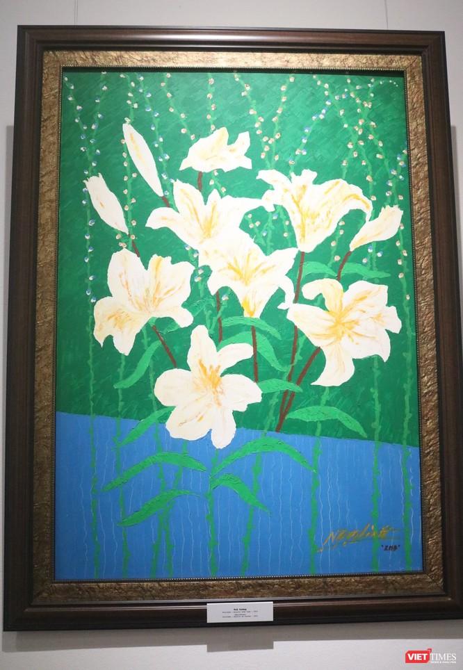 """Triển lãm """"90 mùa xuân"""" của họa sĩ Ngọc Linh - những cảm xúc tươi sáng dành riêng cho Hà Nội ảnh 13"""