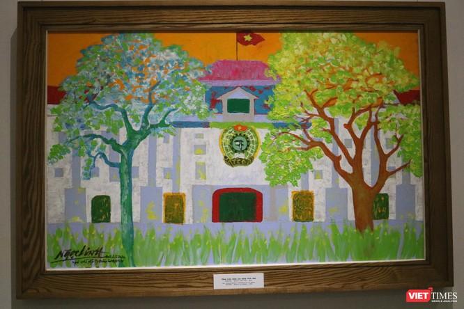 """Triển lãm """"90 mùa xuân"""" của họa sĩ Ngọc Linh - những cảm xúc tươi sáng dành riêng cho Hà Nội ảnh 11"""