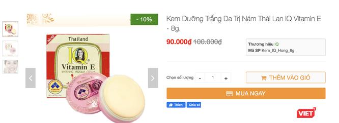 Lạ: Chứa thuỷ ngân vượt ngưỡng, kem thoa mặt IQ Vitamin E vẫn được chào bán tràn lan trên mạng ảnh 4
