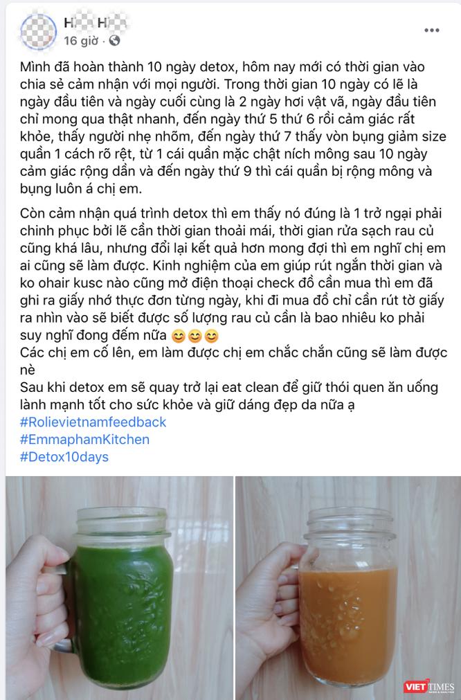 Rước bệnh vào người vì thải độc bằng Detox trên mạng ảnh 4