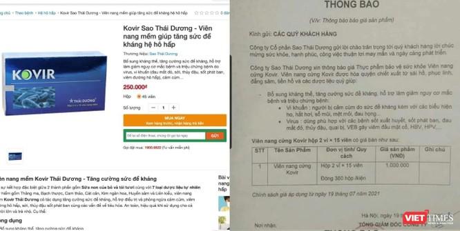 Bộ Công thương: Viên nang Kovir của Công ty CP Sao Thái Dương tăng giá bán đột biến ảnh 1