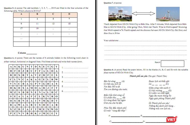Đề thi khảo sát bằng năng lực tiếng Anh của Trường THPT Chuyên Trần Đại Nghĩa
