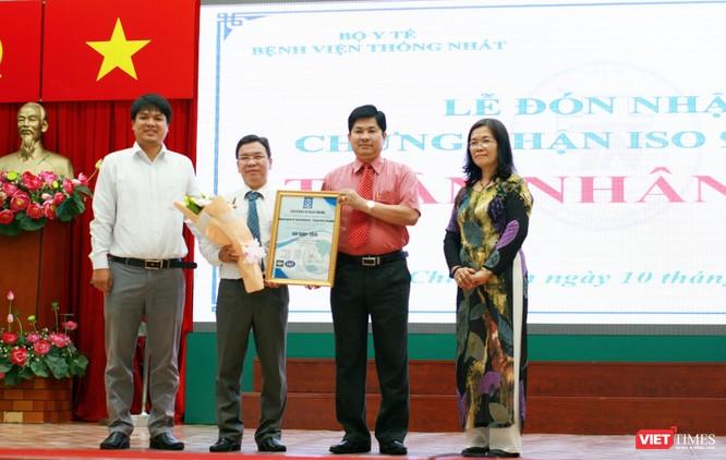 Bệnh viện Thống Nhất đón nhận chứng nhận tiêu chuẩn ISO 9001:2015