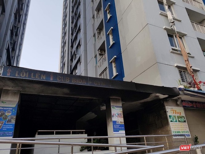 Hiện trường vụ cháy chung cư Carina Plaza