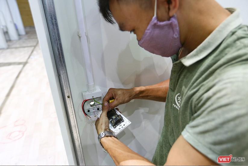 Những hình ảnh mới nhất từ bệnh viện dã chiến 1.000 giường bệnh ở Đà Nẵng ảnh 32