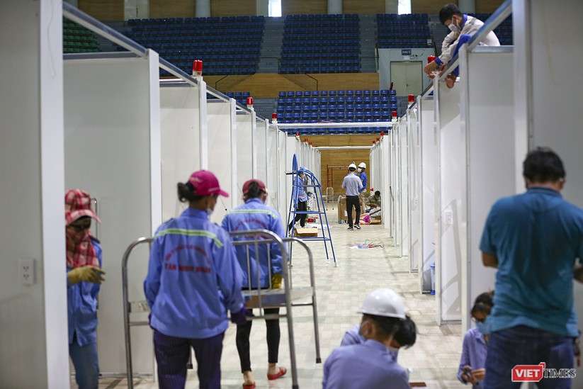 Những hình ảnh mới nhất từ bệnh viện dã chiến 1.000 giường bệnh ở Đà Nẵng ảnh 15