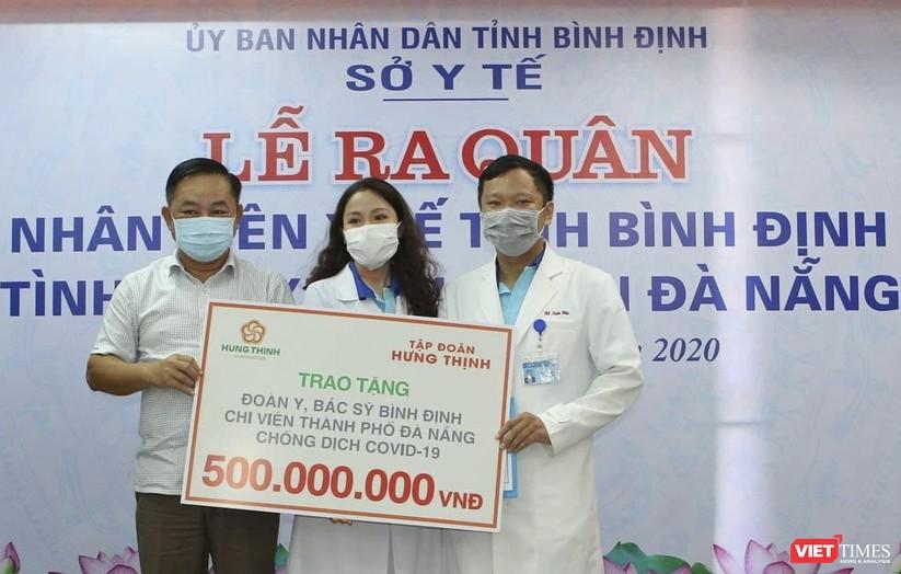 Ảnh: Đoàn cán bộ Y tế tỉnh Bình Định lên đường chi viện cho Đà Nẵng chống dịch COVID-19 ảnh 1