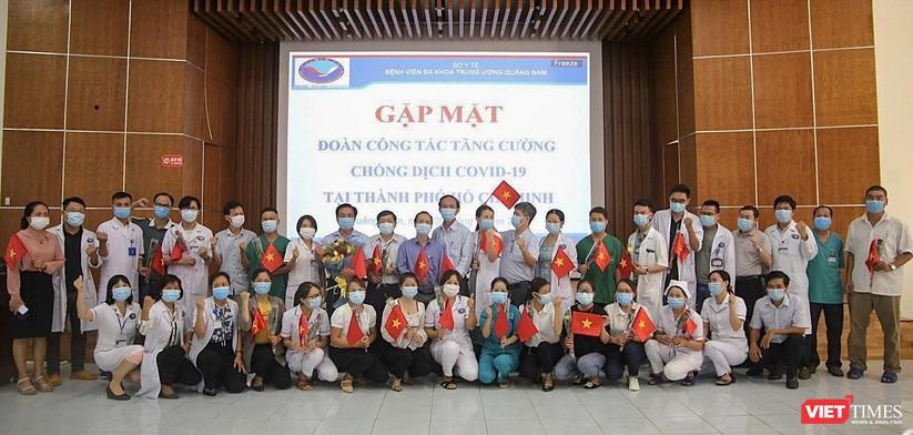 Ảnh: Đoàn y bác sĩ ở Quảng Nam lên đường hỗ trợ TP HCM chống dịch COVID-19 ảnh 1