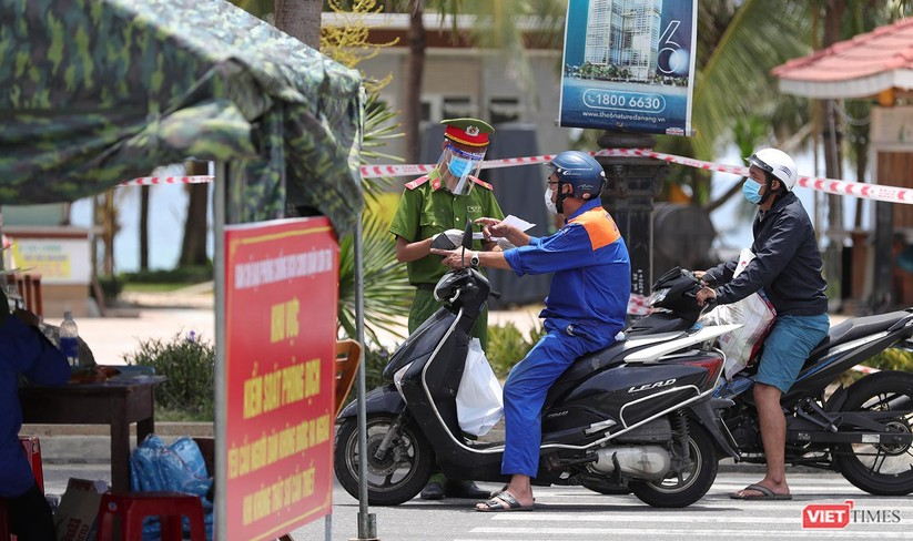 Ảnh: Cận cảnh chốt kiểm soát 5 phường trên địa bàn quận Sơn Trà (Đà Nẵng) ảnh 7