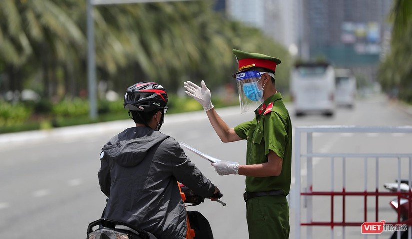 Ảnh: Cận cảnh chốt kiểm soát 5 phường trên địa bàn quận Sơn Trà (Đà Nẵng) ảnh 5