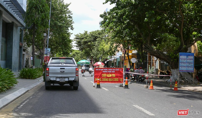 Ảnh: Cận cảnh chốt kiểm soát 5 phường trên địa bàn quận Sơn Trà (Đà Nẵng) ảnh 34