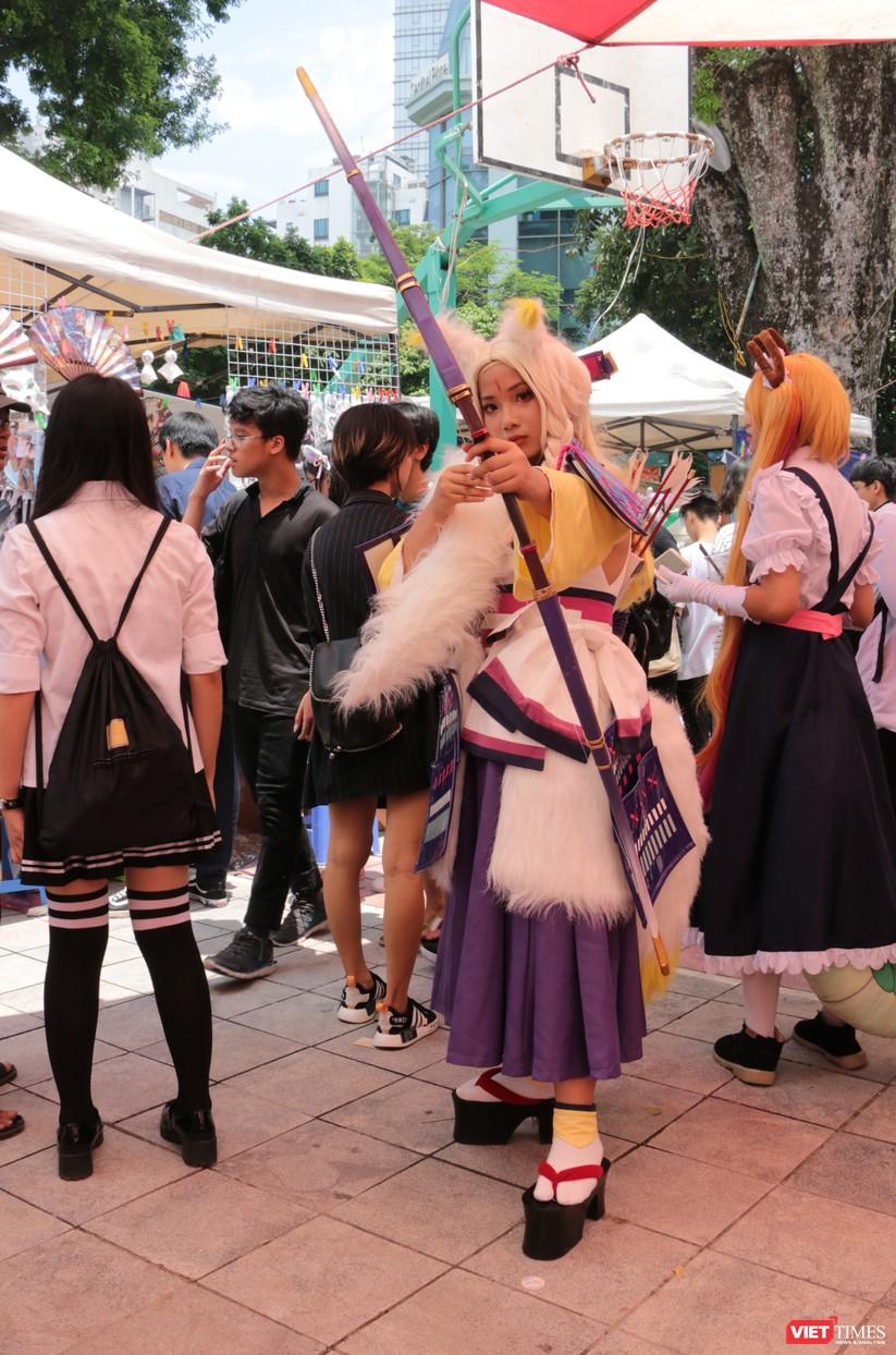 """Rực rỡ sắc màu các bộ trang phục Cosplay trong lễ hội văn hóa Nhật Bản """"Ichigo Ichie 2018"""" tại Hà Nội ảnh 6"""