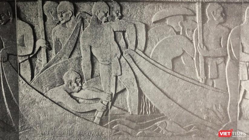 Giải cứu hai bức phù điêu quý trên bức tường di sản ảnh 1
