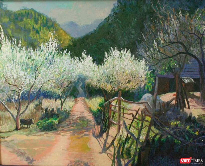 Bức tranh gốc của họa sĩ Đỗ Huy Thanh đang lưu giữ