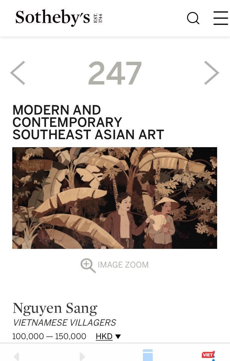 Họa sĩ Nguyễn Thị Hiền lên tiếng vụ giả tranh Nguyễn Sáng bán trên Sotheby's ảnh 1