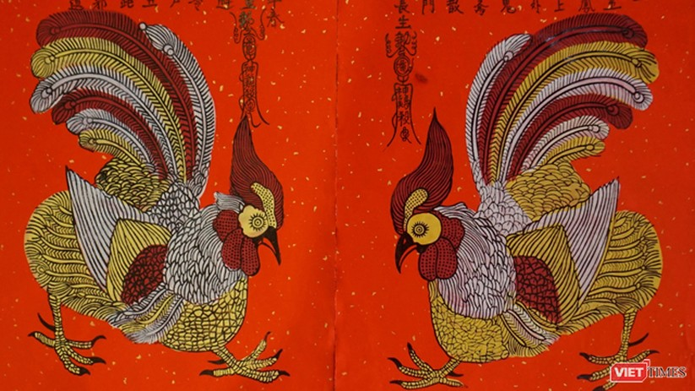 Tranh gà Kim Hoàng