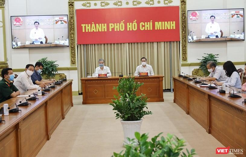 Họp thường trực Chính phủ, Điểm cầu TP.HCM - Ảnh Đình Nguyên