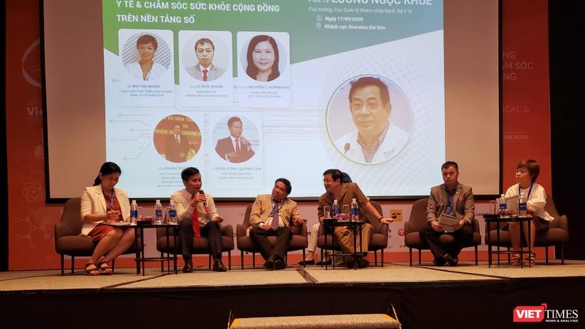 Tọa đàm trao đổi về giải pháp chuyển đổi số ngành y (Ảnh: TB)