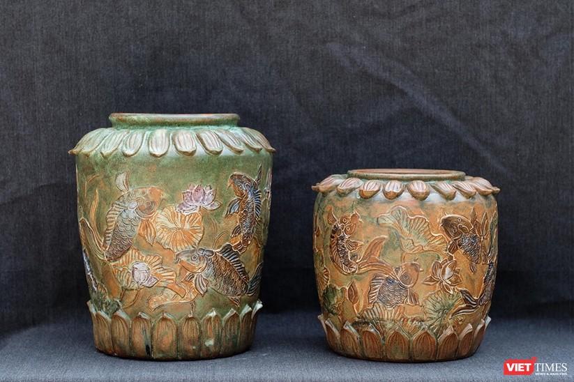 Thạp gốm của Nguyễn Thị Dũng