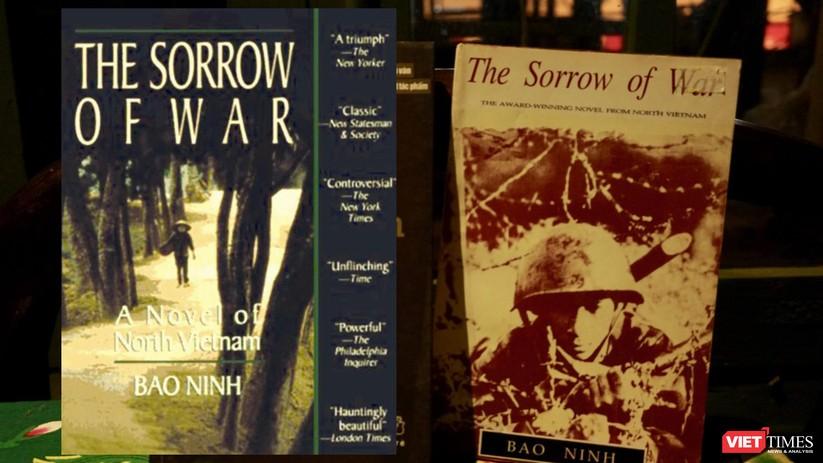 Nỗi buồn chiến tranh bản dịch tiếng Anh (Ảnh: Bảo tàng Văn học, Hòa Bình ghép)