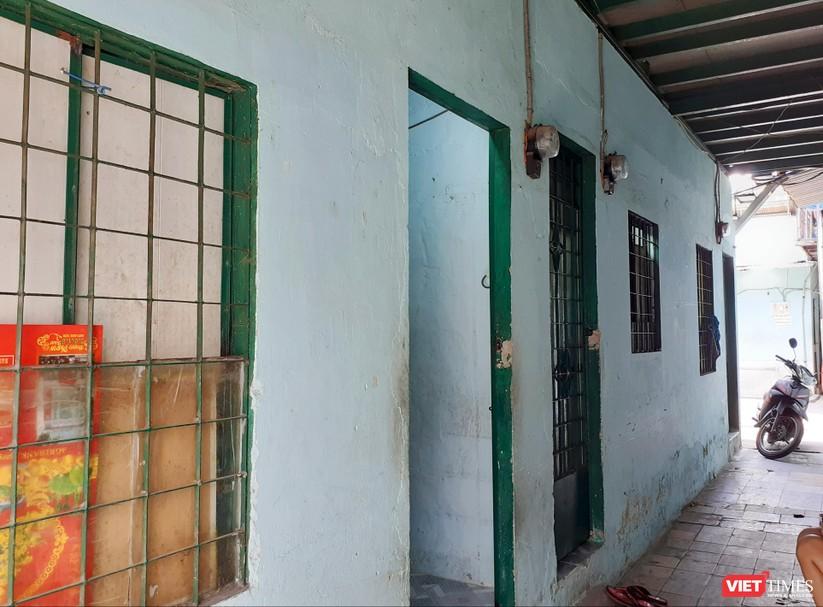 Dãy phòng trọ (tại quận Tân Bình, TP.HCM) nơi xảy ra sự việc